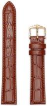 Hirsch Horlogeband -  Louisianalook Goudbruin - Leer - 20mm