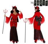 Kostuum duivelin vrouw met strik T-1