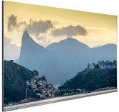 Hoge bergtoppen Rio de Janeiro Aluminium 60x40 cm - Foto print op Aluminium (metaal wanddecoratie)