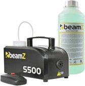 Rookmachine - BeamZ S500 rookmachine inclusief 1250ml rookvloeistof