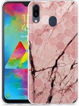 Galaxy M20 Hoesje Pink Marble