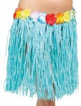 Hawaii rokje blauw 45 cm