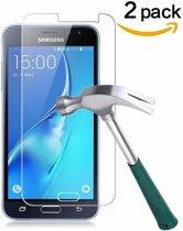 2 stuks Glass Screenprotector - Tempered Glass voor Samsung Galaxy J3 2016
