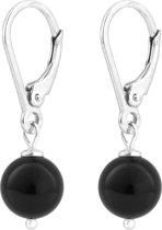 ARLIZI 0925 Pareloorbellen - Dames - 925 Sterling Zilver - 2,5 cm - Zwart