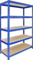 Q-Rax Blue Metal Shelving Units - 120cm x 180cm x 50cm