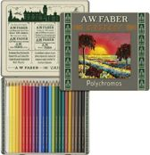 111-jarig bestaan limited edition A.W. Faber-Castell Polychromos bliketui a 24 stuks