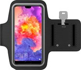 MMOBIEL Sport / Hardloop armband (ZWART) voor Huawei P smart / Mate 20 Pro / P20 Pro / Mate 20 Lite / Mate 20 X / P10 Plus Spatwatervrij, Reflecterend, Neopreen, Comfortabel, Verstelbaar, Koptelefoon Aansluitruimte