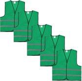 Veiligheidshesje - Veiligheidsvest - Volwassene - Groen - 5 stuks