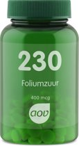 Aov Foliumzuur 400mcg - 100 tabletten - Voedingssupplement