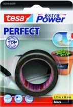 Tesa Extra Power Perfect Tape - Zwart - 2,75 m x 38 mm