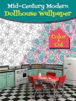 Mid-Century Modern Dollhouse Wallpaper