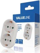 2 Voudige stopcontact splitter - Verticaal - Randaarde EU - Wit