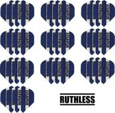 Dragon darts - 10 Sets (30 stuks) - Ruthless - sterke flights - Blauw - darts flights