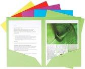 3x Voor A4 of A3 geassorteerde kleuren                   capaciteit: 60 bladen