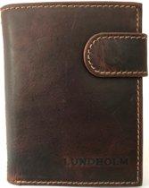 Lundholm - leren pasjeshouder mannen leer - Bruin - cadeau voor man