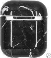 Airpods Marmer Case Cover - Beschermhoes - Zwart - Geschikt voor Apple Airpods