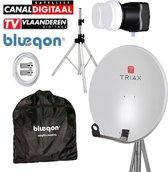 Bleuqon Set : Triax 64cm + 4.3° LNB + Statief + Kabel + Opbergtas