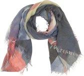 Sjaal Lila Landschap 90 x 180 cm