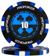 Pokerchip Pro Poker Clay Chip 13,5 Gram Donker Blauw 50