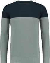 Knitted Two Pattern Crewneck Grey