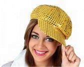 Goud disco petje / cap voor dames