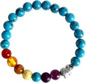 Fako Bijoux® - Buddha Armband - Chakra Reiki - Olifant - Blauw