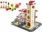 Luxe Houten Parkeergarage - Parking Tower Auto Garage - Parkeertoren Speelset Met Accessoires