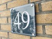 Huisnummer bordjes met een dubbele rand