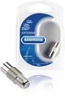 Bandridge BVP495 kabeladapter/verloopstukje Coax M F-Con FM Aluminium