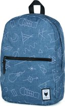 The Pack Society Commuter Backpack Rugzak - Blue With White Embroidery