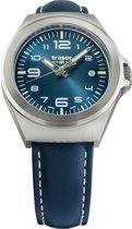 Traser P59 Essential S Blue leather - horloge - Ø 37 mm - zilver