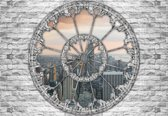 Fotobehang View New York Skyline Empire State | XXXL - 416cm x 254cm | 130g/m2 Vlies
