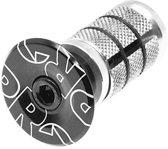 Pro Balhoofdplug 1 1/8 Inch 25 Mm Zwart/zilver