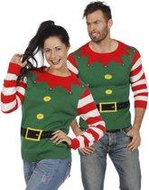 Kersttrui groen kerstelf voor volwassenen maat S