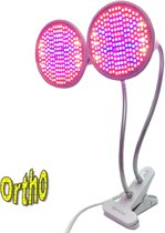 Ortho LED Groeilamp Bloeilamp Kweeklamp Grow light groei lamp (met 2 upgraded 200 LED Full spectrum lampen) met flexibele lamphouder - klem spotje