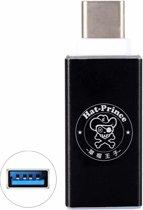 ENKAY Hat-Prince HC-3 aluminium USB 3.0 Vrouw naar USB-C / Type-C 3.1 Male Datatransmissie Opladen Adapter, voor Galaxy S8 & S8 + / LG G6 / Huawei P10 & P10 Plus / Xiaomi Mi6 & Max 2 en andere smartphones (zwart)