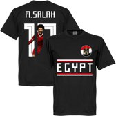 Egypt M. Salah 10 Gallery Team T-Shirt - Zwart - XS