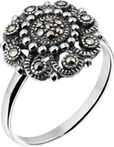 The Jewelry Collection Ring Markasiet - Zilver Geoxideerd