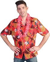 Roze Hawaii blouse met tropische print 48-50 (s/m)