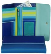 Mywalit Tri-Fold met Outer Zip Purse - damesportemonnee - Seascape