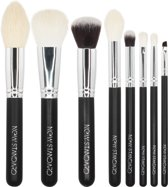 New Standard - 8-delige Make-up Kwastenset - Zwart Zilver - Classic Brush Set