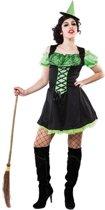 Halloween - Groen heksenjurkje inclusief hoedje