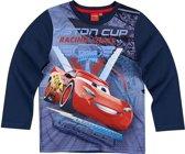 Disney-Cars-T-shirt-met-lange-mouw-marineblauw-maat-104
