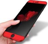 Let op type!! GKK voor iPhone 8 Plus PC Three - lid Shield 360 graden volledige back cover beschermhoes (zwart + goud)