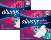 Always - Radiant Normal - Smart Foam - met vleugels - 24 verbanden (2x12)