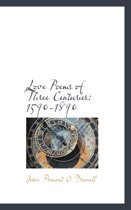 Love Poems of Three Centuries