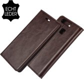 Youngsters Huawei P9 - Leather Wallet Case - Donkerbruin hoesje
