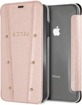 iPhone Xs Max hoesje - Guess - Rose goud - Kunstleer