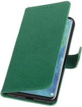 Groen Pull-Up Booktype Hoesje voor Huawei Mate 20 Pro