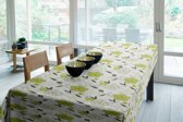 Joy@home Tafellaken - Tafelkleed - Tafelzeil - Bloemen Groen
